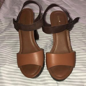 Dark brown/light brown 4inch heels